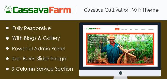 Cassava Cultivation WordPress Theme