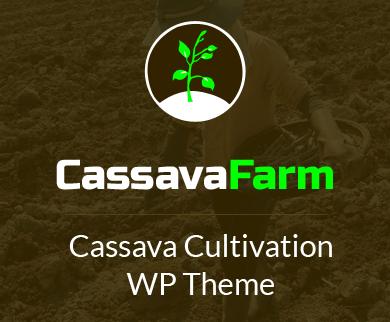 Cassava Farm - Cassava Cultivation WordPress Theme & Template