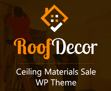 Roof Decor - Ceiling Materials Sale WordPress Theme & Template