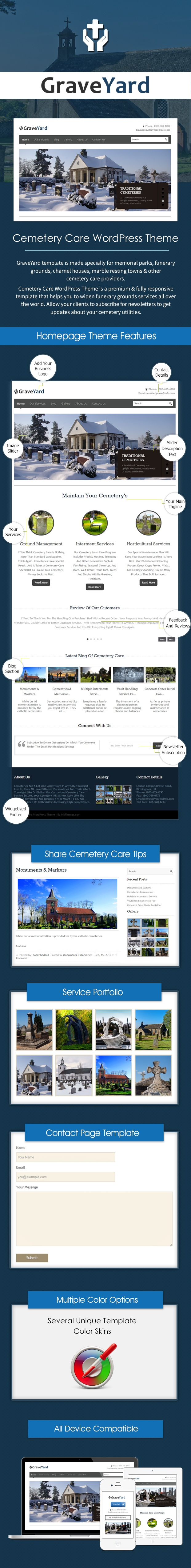 graveyard cemetery care wordpress theme template inkthemes. Black Bedroom Furniture Sets. Home Design Ideas