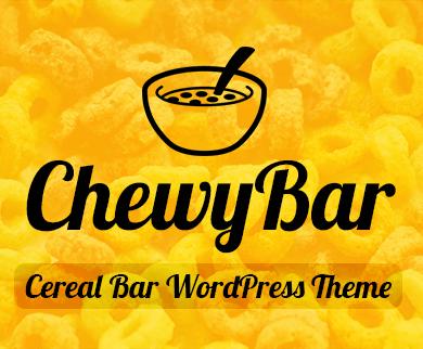 ChewyBar - Cereal Bar Restaurant WordPress Theme & Template
