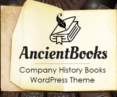 Ancient Books - Company History Books WordPress Theme & Template