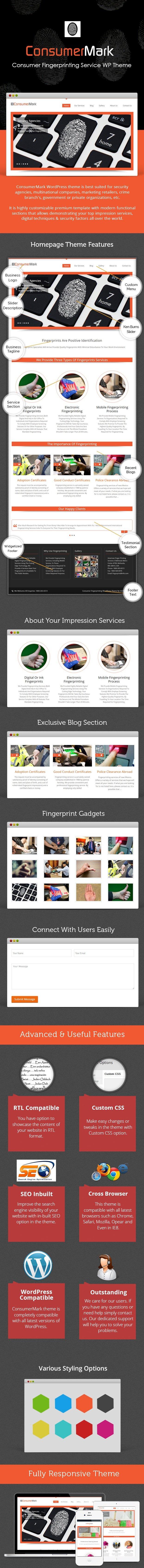 Fingerprinting Service WordPress Theme