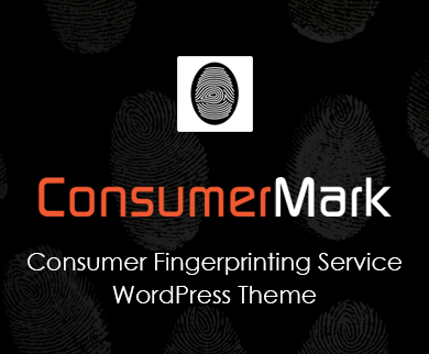 ConsumerMark - Consumer Fingerprinting Service Corporate WordPress Theme & Template