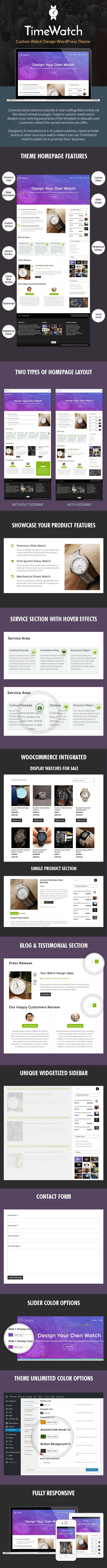 Custom Watch Design Sales Page