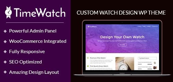Custom Watch Design WordPress Theme