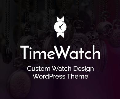 Time Watch - Custom Watch Design WordPress Theme & Template