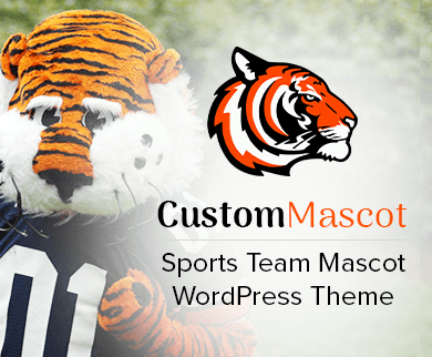 CustomMascot - Sports Team Mascot WordPress Theme & Template