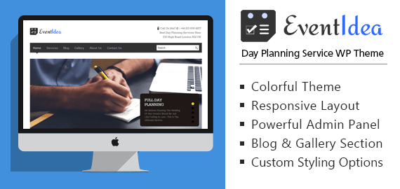 Day Planning Service WordPress Theme & Template
