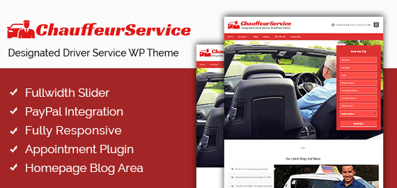 Designated Driver Service WordPress Theme