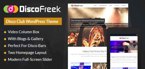 Disco Club WordPress Theme & Template