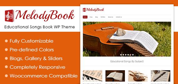 Educational Songs Book WordPress Theme