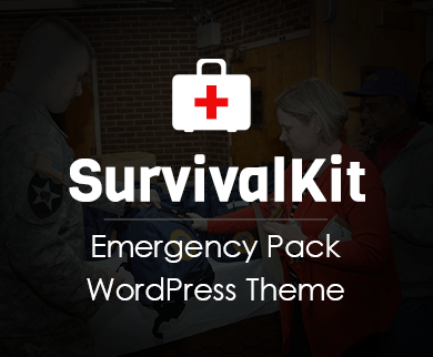 Survival Kit - Emergency Pack WordPress Theme & Template