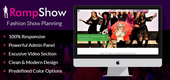 Ramp Show – Fashion Show Planning WordPress Theme