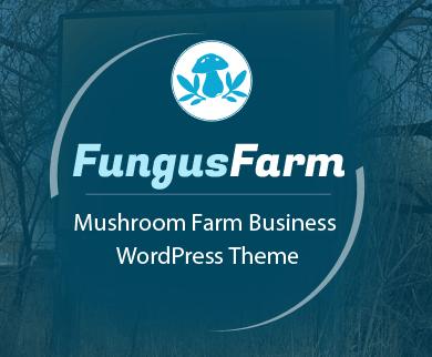 Fungus Farm - Mushroom Farm Business WordPress Theme & Template