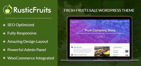 Rustic Fruits – Fresh Fruits Sale WordPress Theme