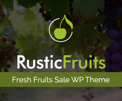 Rustic Fruits - Fresh Fruits Sale WordPress Theme & Template