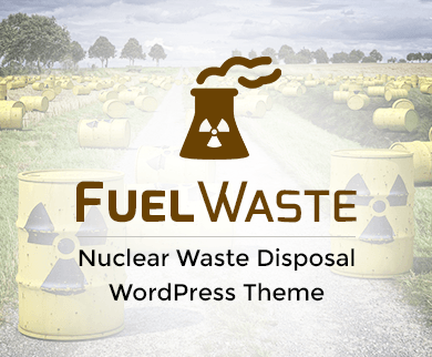 Fuel Waste - Nuclear Waste Disposal WordPress Theme & Template