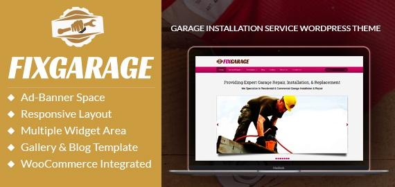Garage Installation Service WordPress Theme