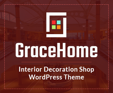 Grace Home - Interior Decoration Shop WordPress Theme & Template