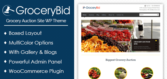 Grocery Bid – Grocery Auction Site WordPress Theme