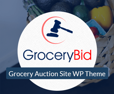 Grocery Bid - Grocery Auction Site WordPress Theme & Template