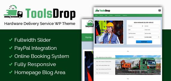 Hardware Delivery Service WordPress Theme