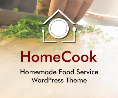 Home Cook - Homemade Food Service WordPress Theme & Template