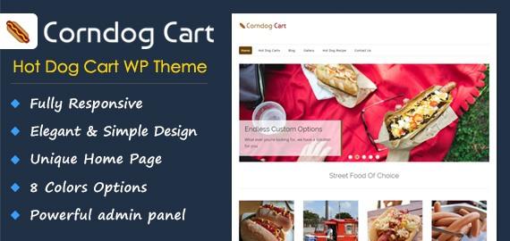 Hot Dog Cart WordPress Theme