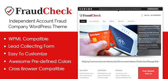 Independent Account Fraud Company WordPress Theme