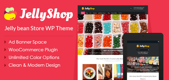 Jelly Bean Store WordPress Theme