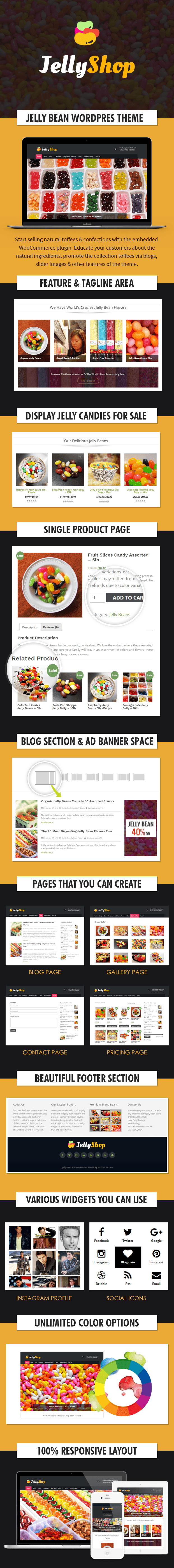 Jelly Bean Store WordPress Theme Template