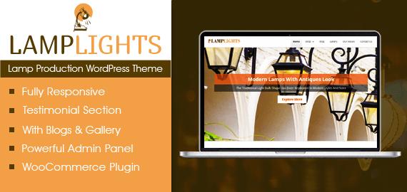 Lamp Production WordPress Theme