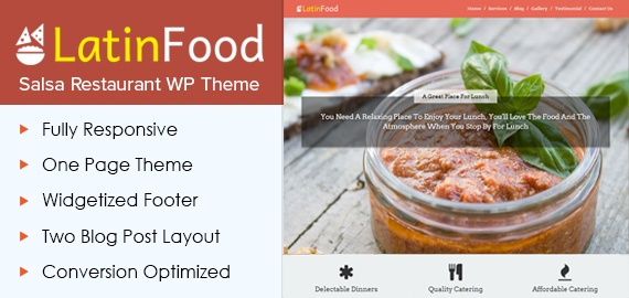 Salsa Restaurant WordPress Theme
