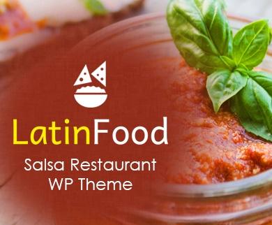 Latin Food - Salsa Restaurant WordPress Theme & Template