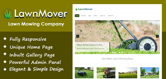 Lawn Mover – Lawn Mowing Company WordPress Theme