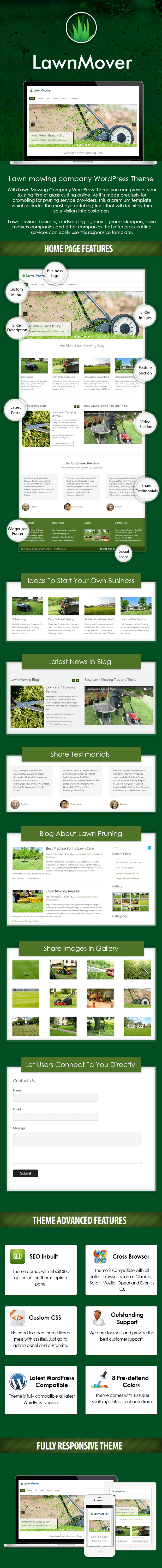 Lawn Mowing Company WordPress Theme