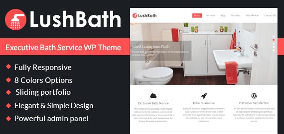 Executive Bath Service WordPress Theme & Template