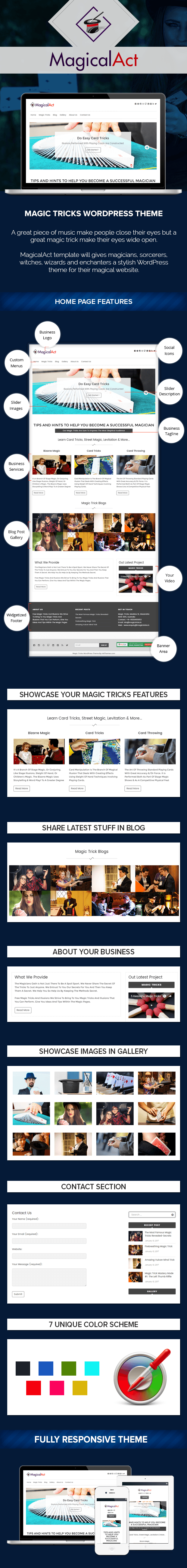 Magic Tricks WordPress Theme
