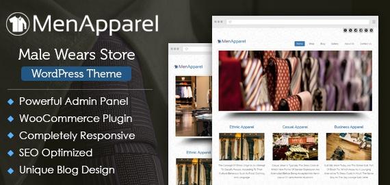 Male Wears Store WordPress Theme
