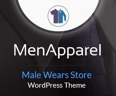 MenApparel - Male Wears Store WordPress Theme & Template