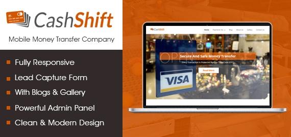 [CashShift] Mobile Money Transfer WordPress Theme