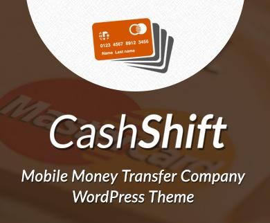 CashShift - Mobile Money Transfer Company WordPress Theme & Template