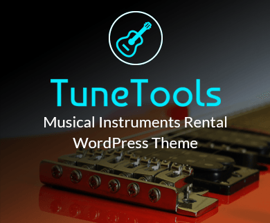 Tune Tools - Musical Instruments Rental WordPress Theme & Template