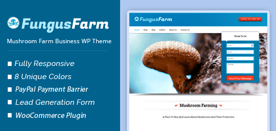 Mushroom Farm Business WordPress Theme