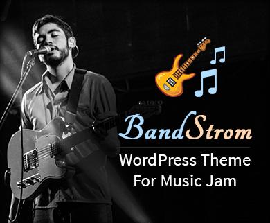 Band Strom - Music Jam WordPress Theme & Template
