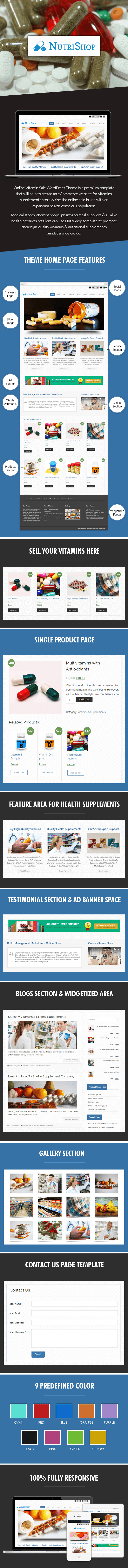 Online Vitamin Sale WordPress Theme