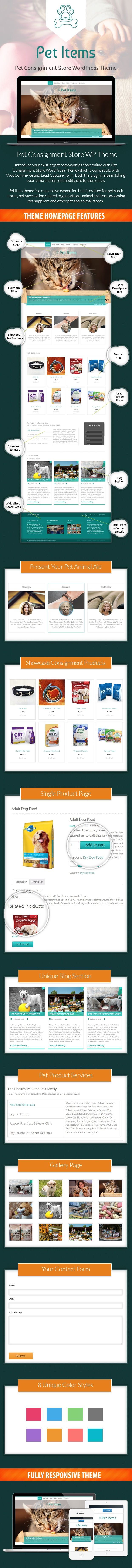 Pet Consignment Store WordPress Theme