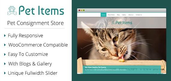 Pet Items – Pet Consignment Store WordPress Theme