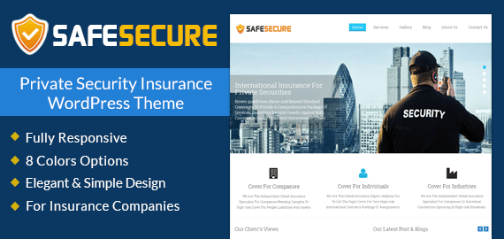 Private Security Insurance WordPress Theme & Template | InkThemes